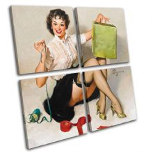 Vintage Girl Retro Pin-ups - 13-2036(00B)-MP01-LO